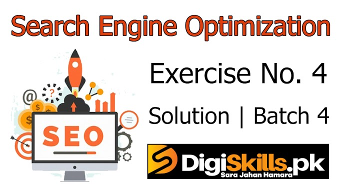 Digiskills SEO | Exercise No. 4 Solution | Batch 4 | SEO101 Exercise No. 4 Solution | Study Planet