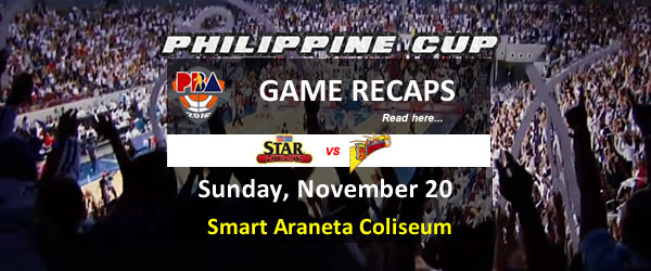 List of PBA Game(s) Sunday November 20, 2016 @ Smart Araneta Coliseum
