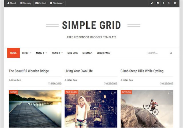 Simple Grid Blogger Theme