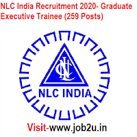 NLC India Recruitment 2020, Graduate Executive Trainee (259 Posts)