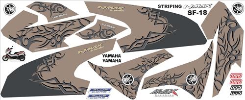 stiker Striping old Nmax desain suka suka
