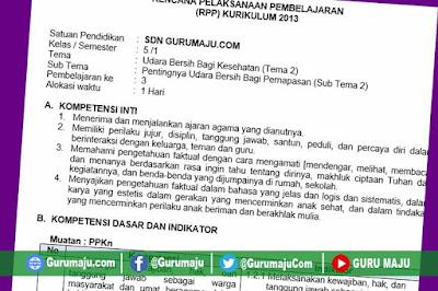 RPP Kelas 5 Tema 2 Kurikulum 2013 Revisi Tahun 2019