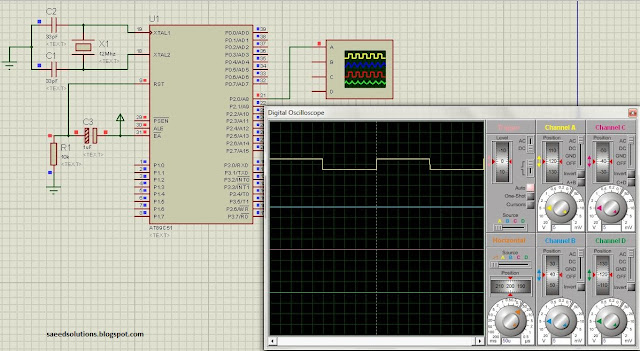 8051 LED Blinking Code + Proteus Simulation - ElectronicBeans