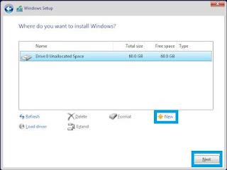 Install Windows Server - Disk Option