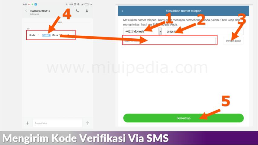 Mengirim Kode Verifikasi Via SMS
