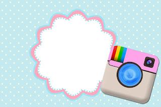 Para hacer invitaciones, tarjetas, marcos de fotos o etiquetas, para imprimir gratis de Fiesta de Instagram.