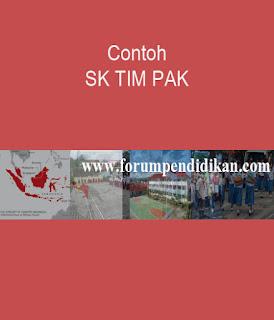 Contoh SK TIM Penilai Angka Kredit | Kurikulum