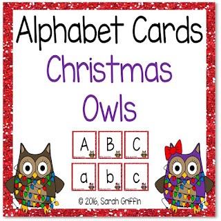 https://www.teacherspayteachers.com/Product/Christmas-Owls-Alphabet-Cards-Capital-and-lowercase-letters-2914112