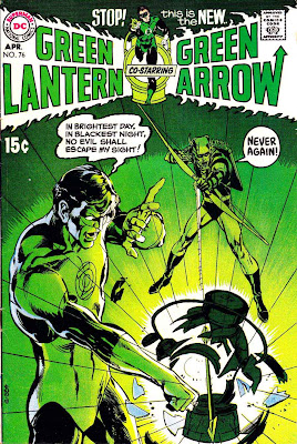 Green Lantern Green Arrow #76 dc comic book cover art by Neal Adams
