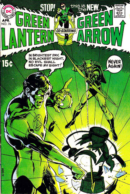 Green Lantern Green Arrow #76 dc bronze age comic book cover art by Neal Adams