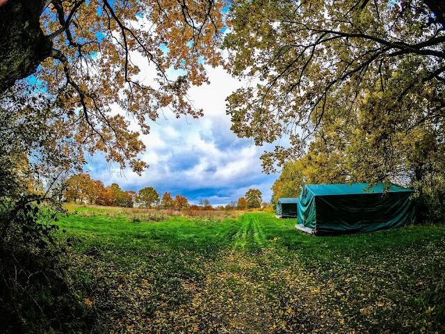 camping in de herfst