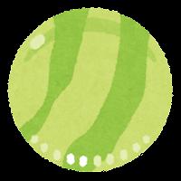 おはじきのイラスト(緑)