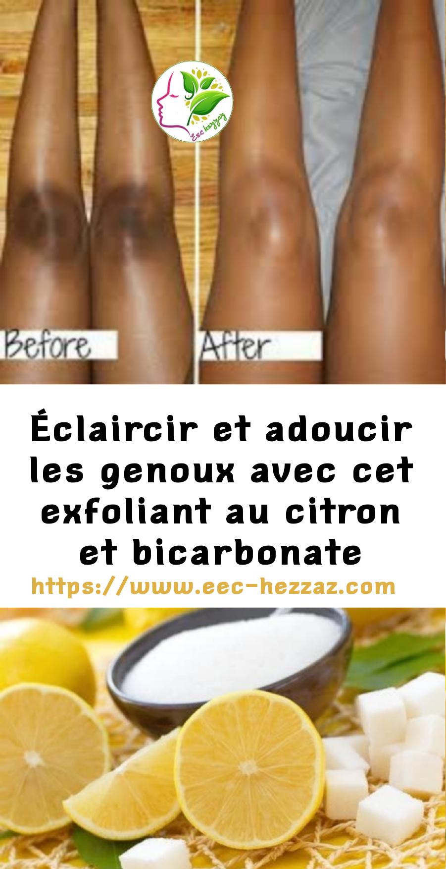 Éclaircir et adoucir les genoux avec cet exfoliant au citron et bicarbonate