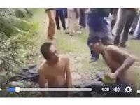 """Heboh ! VIDEO Dua Maling Tertangkap, Warga Pilih Hukum Pakai Kelapa, """"Daripada Mati Dibakar"""""""