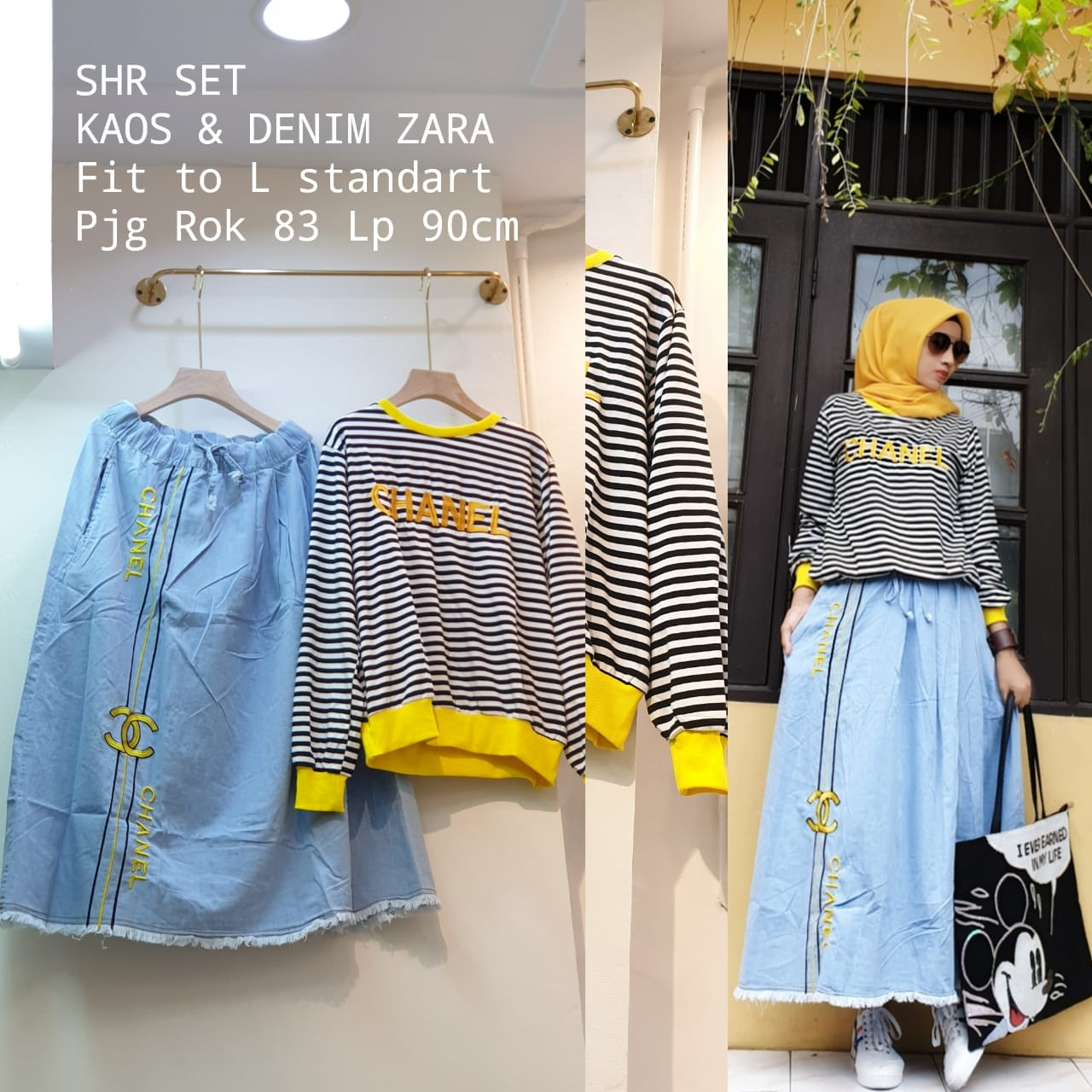 Set Jeans Salur Shr Premium Quality Melody Fashion