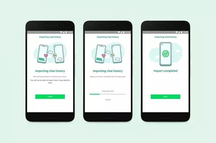 Mulai Sekarang WhatsApp Bisa Transfer Data Lintas OS, Android dan iOS