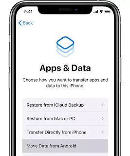 Move Data from Android to iphone