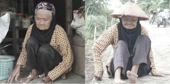 Tinggal Sebatang Kara, Mbah Kusni Hidup Memilukan Hanya Bisa Berjalan dengan Jongkok