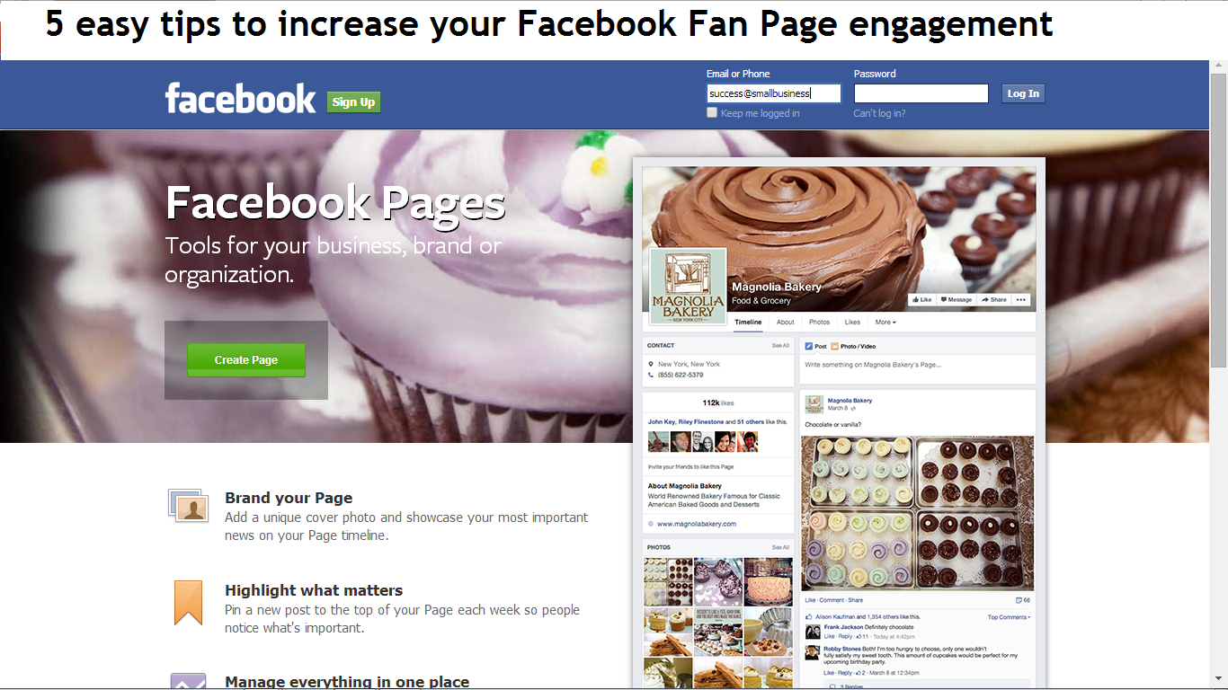 5 tips to increase your Facebook Fan Page engagement: