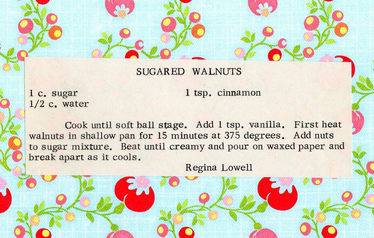 Sugared Walnuts (quick recipe)