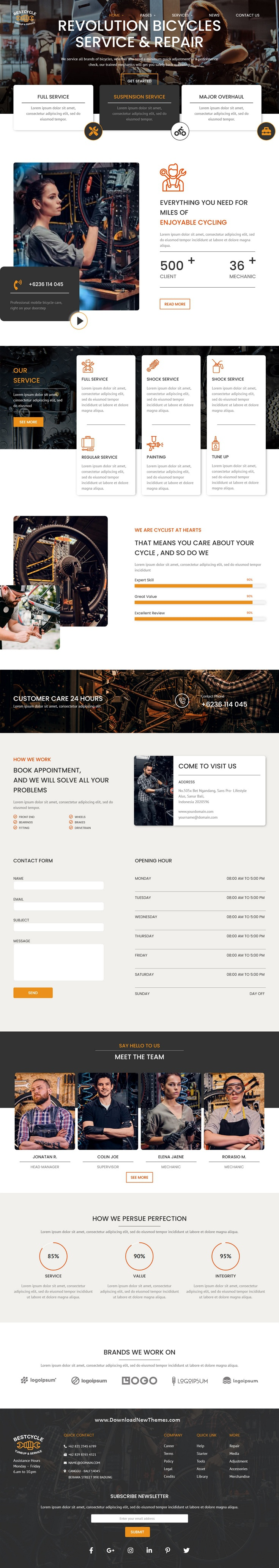 Bicycle Repair and Service Elementor Template Kit