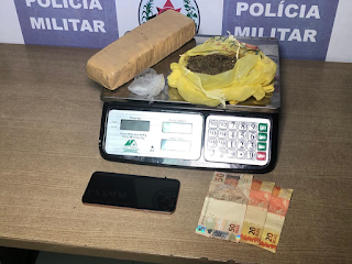 Homem é preso com 1 kg de drogas na mochila durante abordagem em João Pessoa