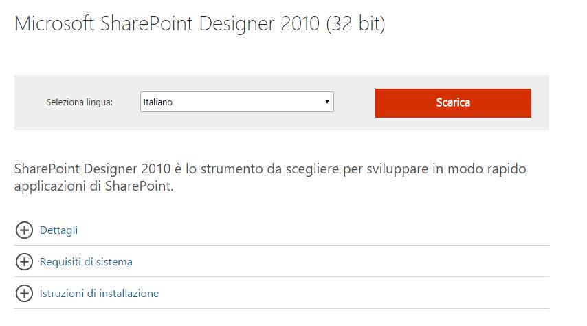 Download Microsoft SharePoint Designer 2010