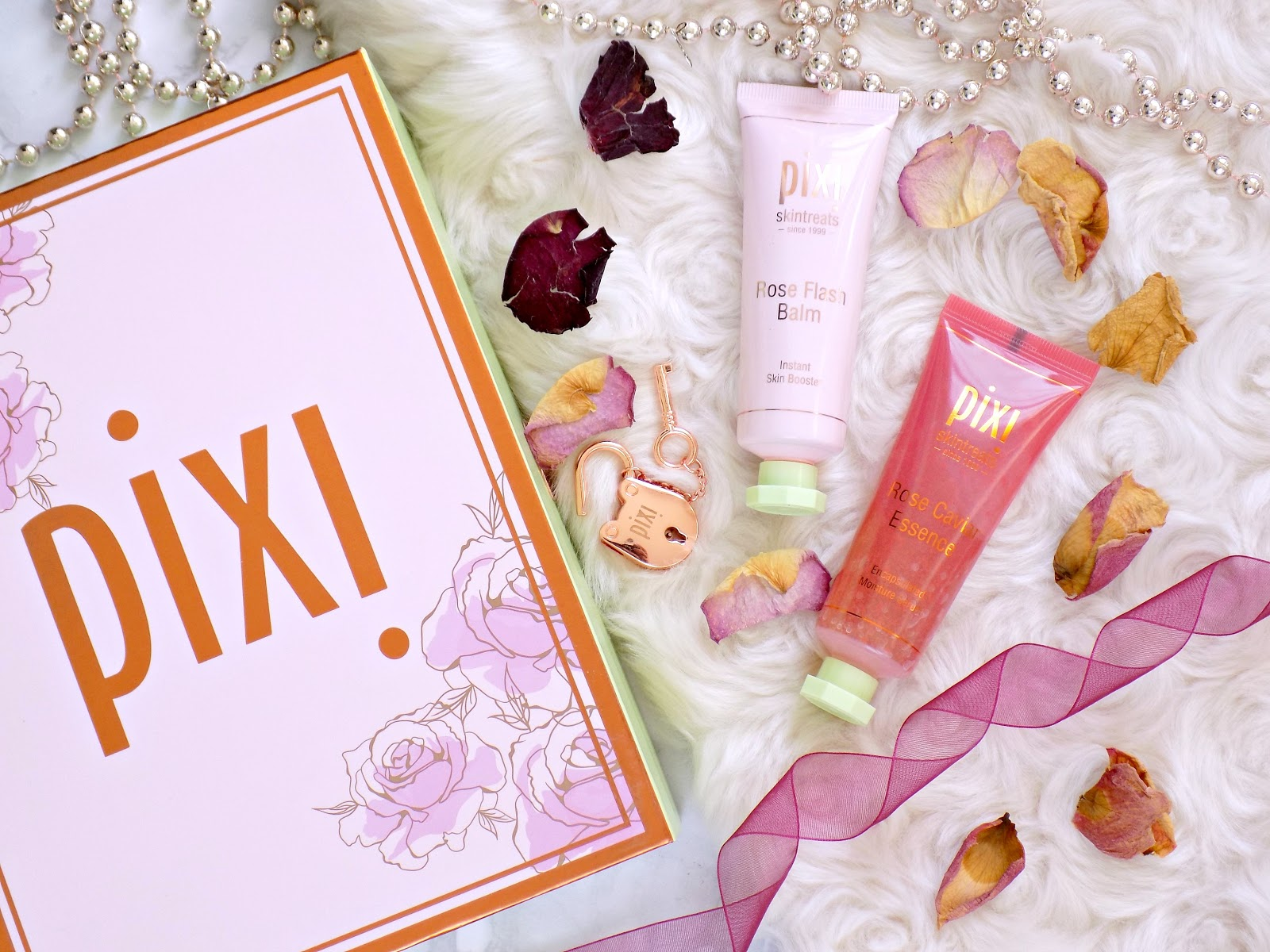 Pixi Rose Flash Balm, Pixi Rose Caviar Essence