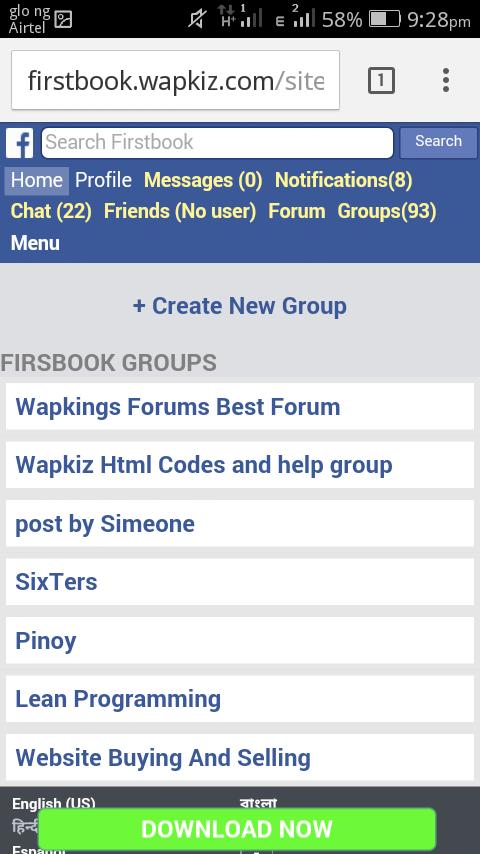 How to create social media like facebook on Wapkiz part 4