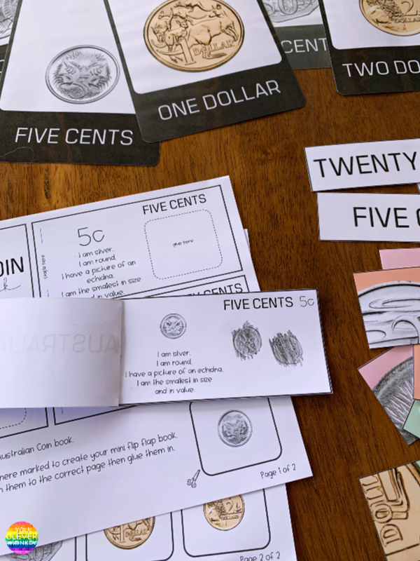Australian Coin Printable Mini Flip Books | you clever monkey