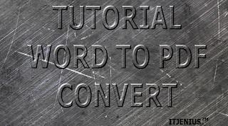 cara merubah file word ke pdf dengan cepat