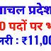 हिमाचल प्रदेश में 200 पदों पर भर्ती