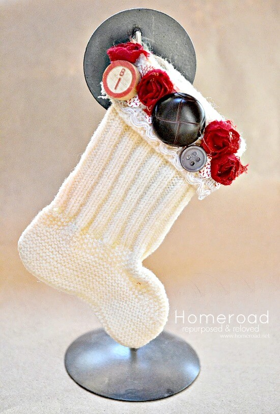 Mini Christmas Stockings from Vintage Baby Socks