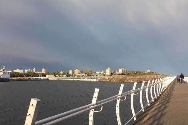 Pier near the cruise dock in Victoria, BC