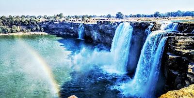 देश का सबसे चौड़ा जलप्रपात चित्रकोट जलप्रपात (छ. ग.)