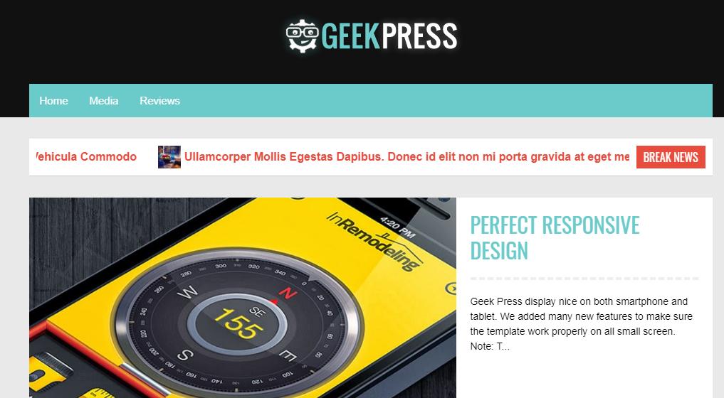 Mẫu giao diện blogger Geek Press