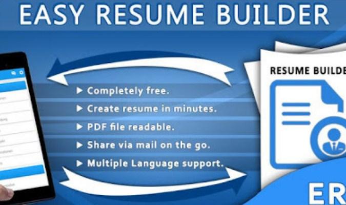 Aplikasi Android dan iOS Terbaik tuk Bikin CV - Easy Resume Builder