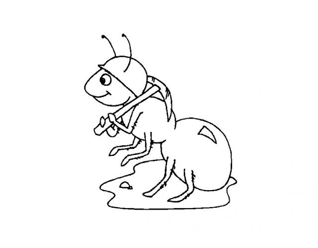 Gambar Mewarnai Semut - 24