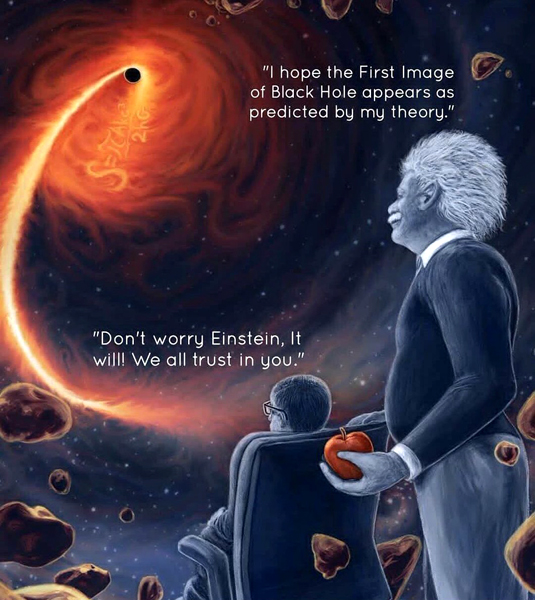 The late physicists Albert Einstein and Stephen Hawking were integral to expanding our understanding of black holes... May they rest in peace.