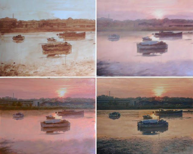 WIP southampton river artwork in stages