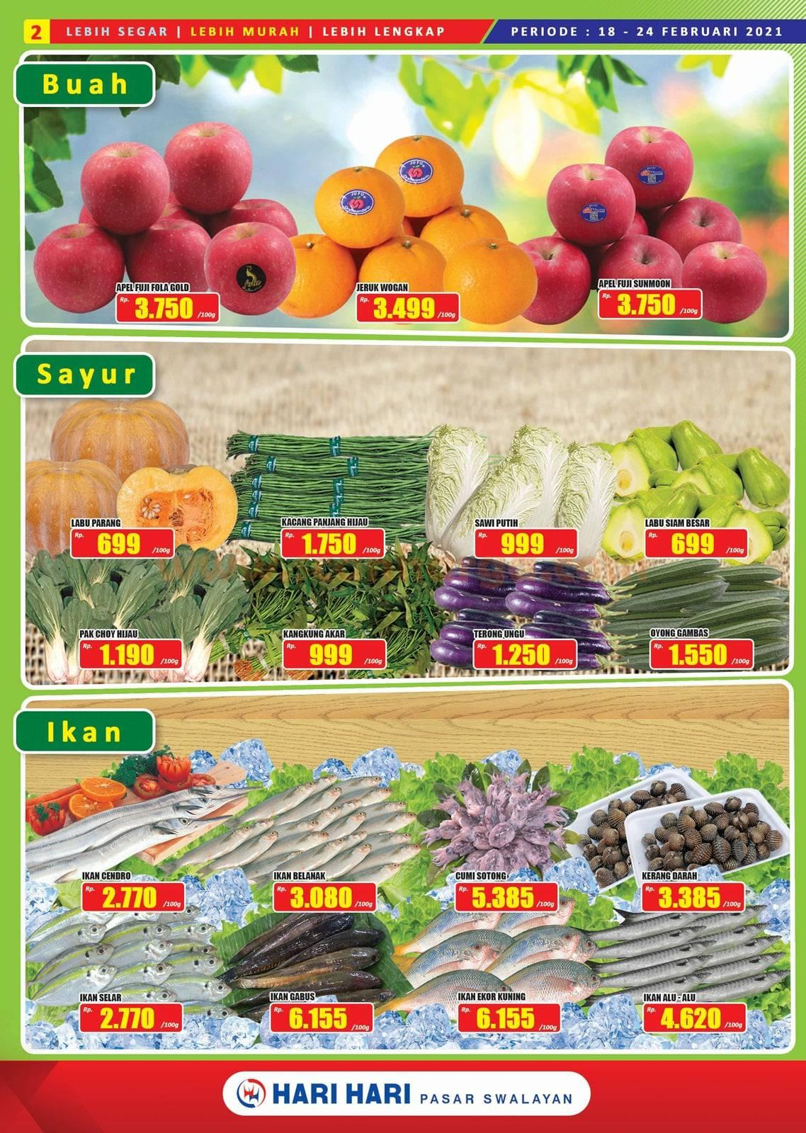 Katalog Promo Hari Hari Pasar Swalayan 18 Februari - 3 Maret 2021 2