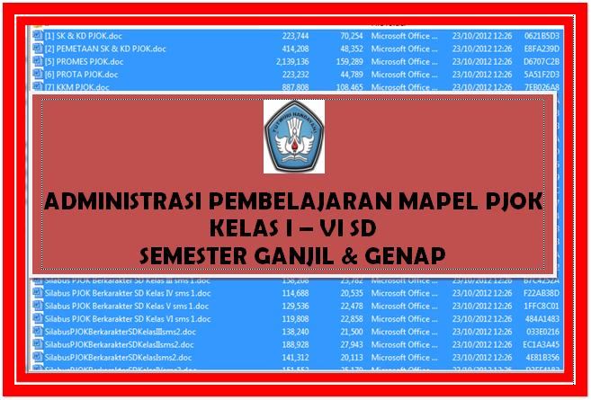 Administrasi Pembelajaran Lengkap Ma-Pel PJOK [ Kelas I s.d VI SD]