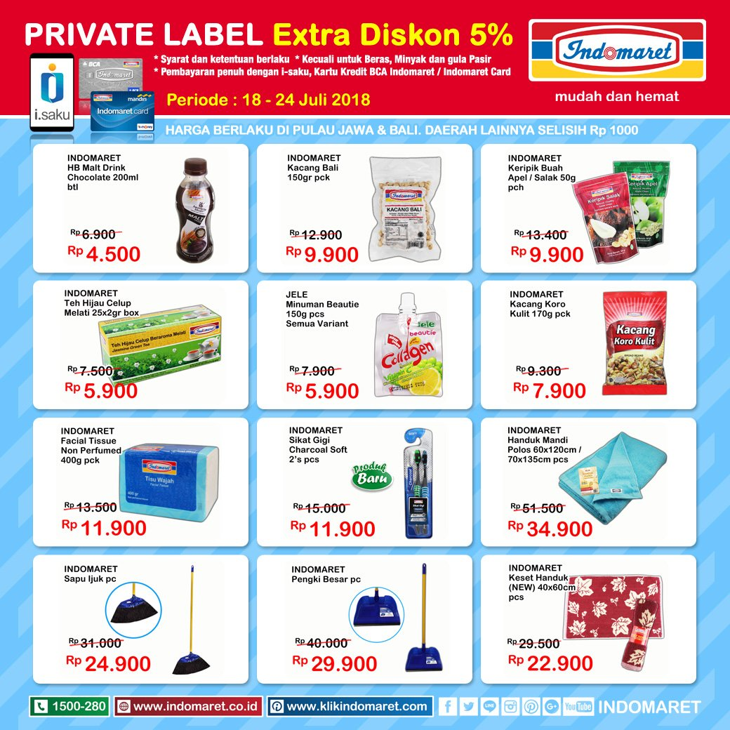 Indomaret Promo Private Label Periode 18 - 24 Juli 2018