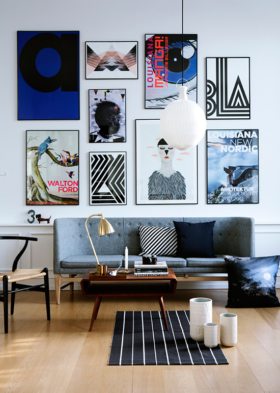 Impressive wall art. Photo by Line Klein for Alt Interiør, styling by Nicola Kragh Riis.