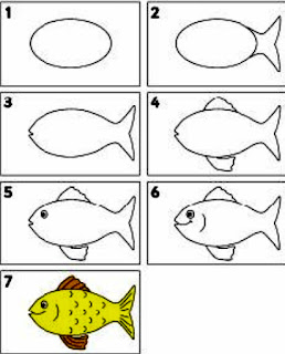 رسم اسماك بالرصاص ، رسم الاسماك البحرية