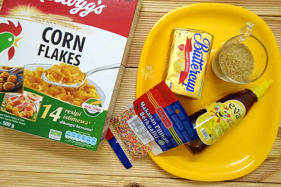 resepi biskut cornflakes madu rangup  mudah Resepi Kuih Bakar Sarang Madu Enak dan Mudah