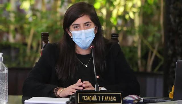 La ministra de Economía y Finanzas, María Antonieta Alva