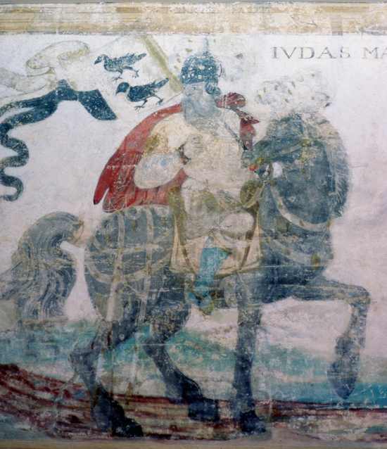 Photograph of Wall painting Judas Maccabeus image from the NMLHS, part of the Images Of North Mymms Collection