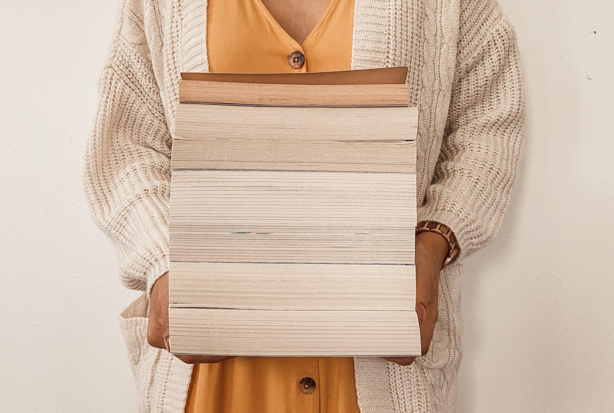 book stack bookstagram