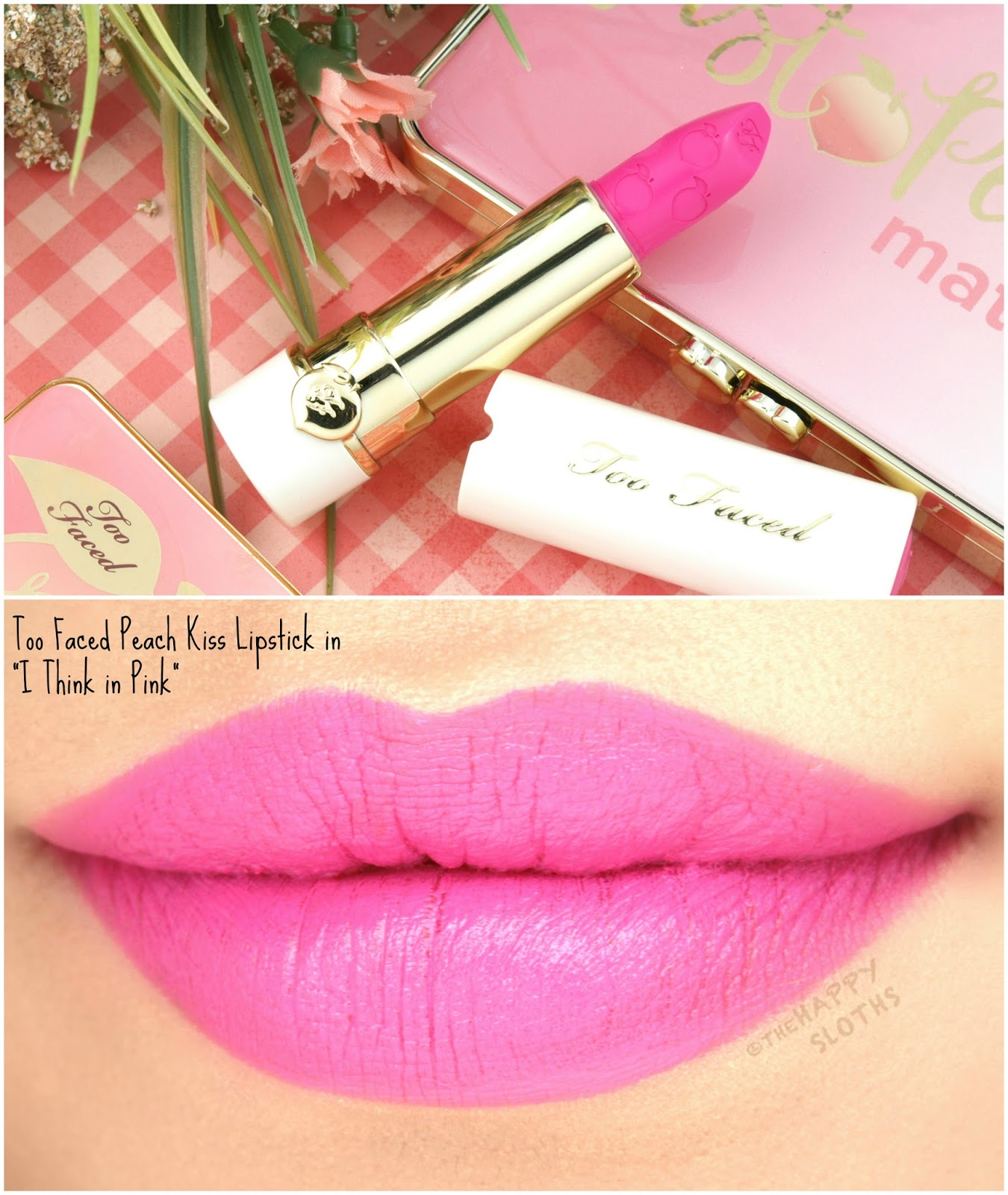 Too Faced Peach Kiss Moisture Matte Long Wear Lipstick In I Think Pink